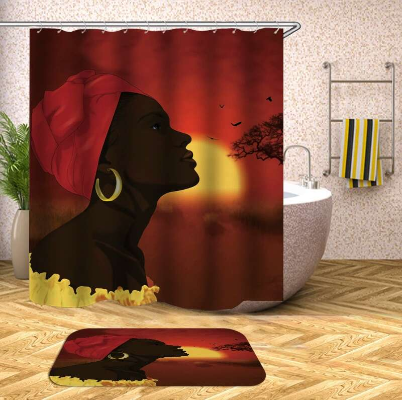 rideaux style africain