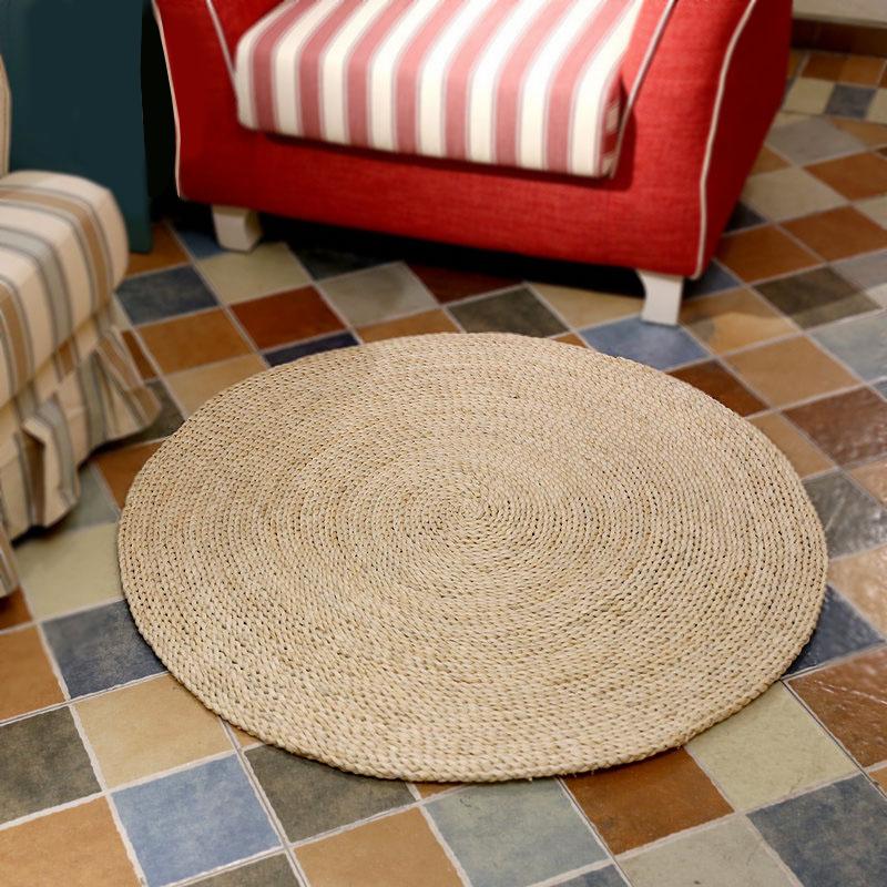 moderne ronde naturelle de paille de mais tapis de sol pour salon buy tapis de paille tapis de sol pour salon tapis naturels product on alibaba com