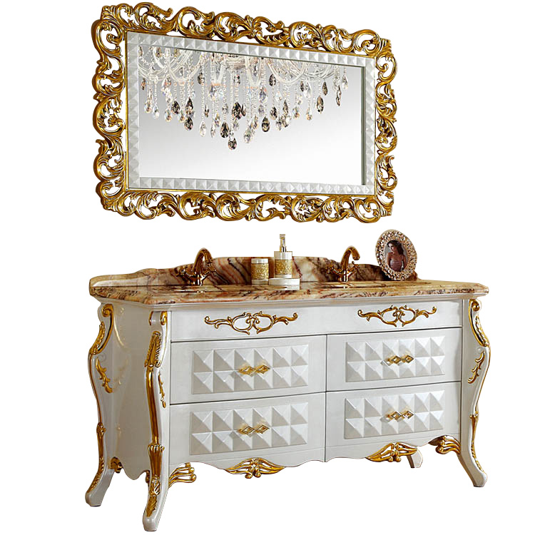 59 inch luxury white hotel bath vanities cabinets classic double sink with golden leaf and marble top buy luxury bathroom vanities luxury bathroom