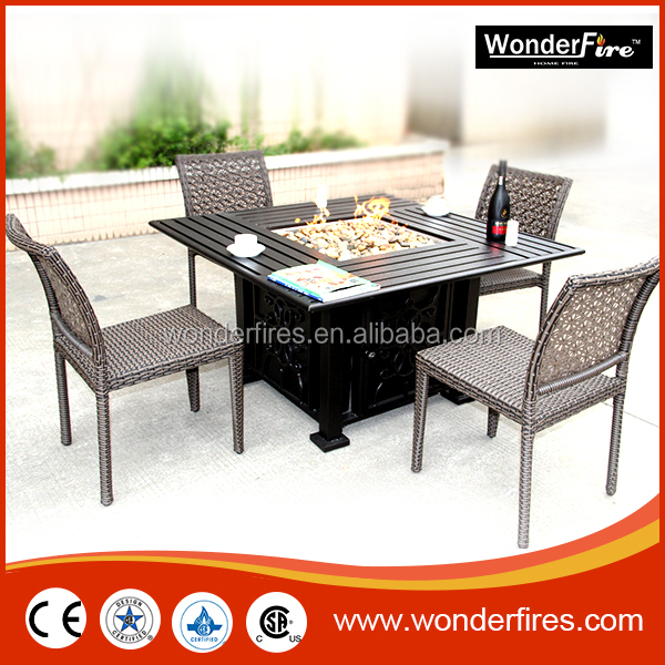outdoor manmade clay patio gas fireplace square garden portable propane fire pit table for party buy patio conversational seating with firepit