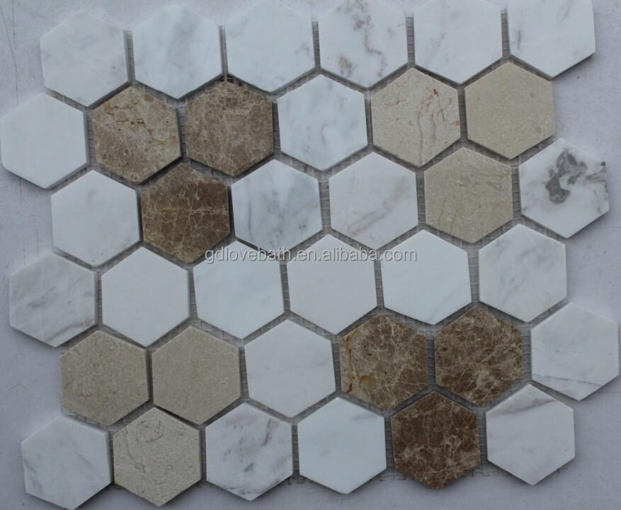 hexagon marble mosaic shower floor tile mesh backed mosaic buy shower floor mesh backed mosaic tiles hexagon mosaic floor tile marble mosaic 24x24