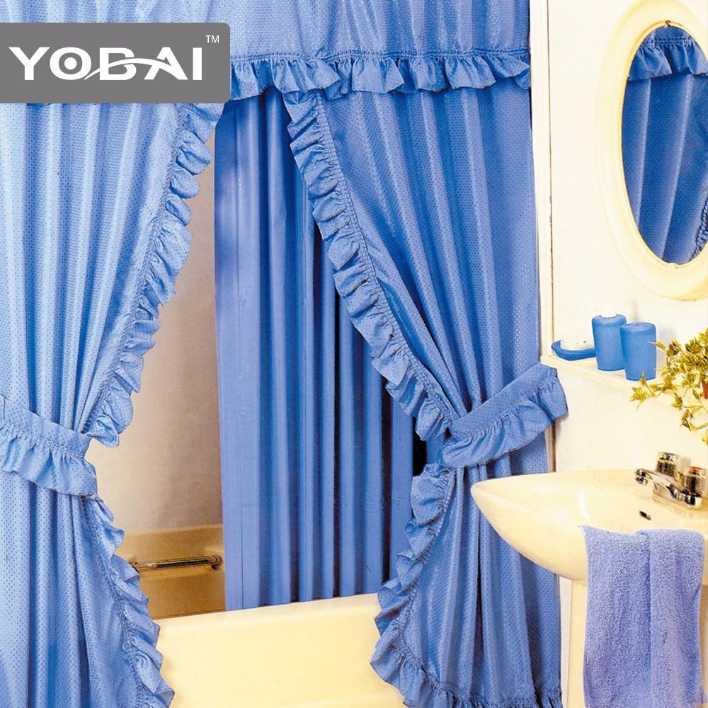wholesale blue double swag shower curtains with valance buy shower curtain with valance shower curtain liner double swag shower curtains with