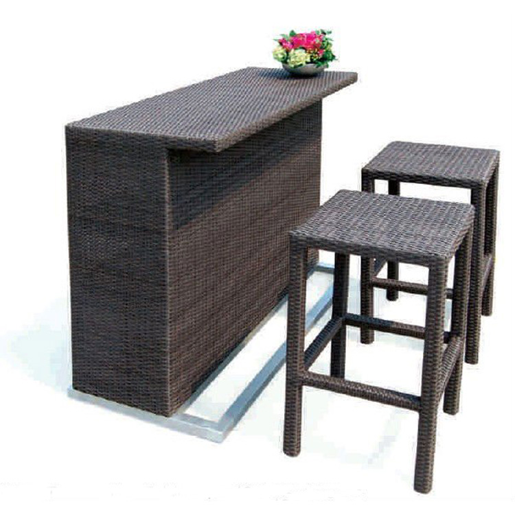 hot sell outdoor patio bar furniture beach bar furniture buy beach bar furniture stackable rattan bar table wicker bar furniture product on