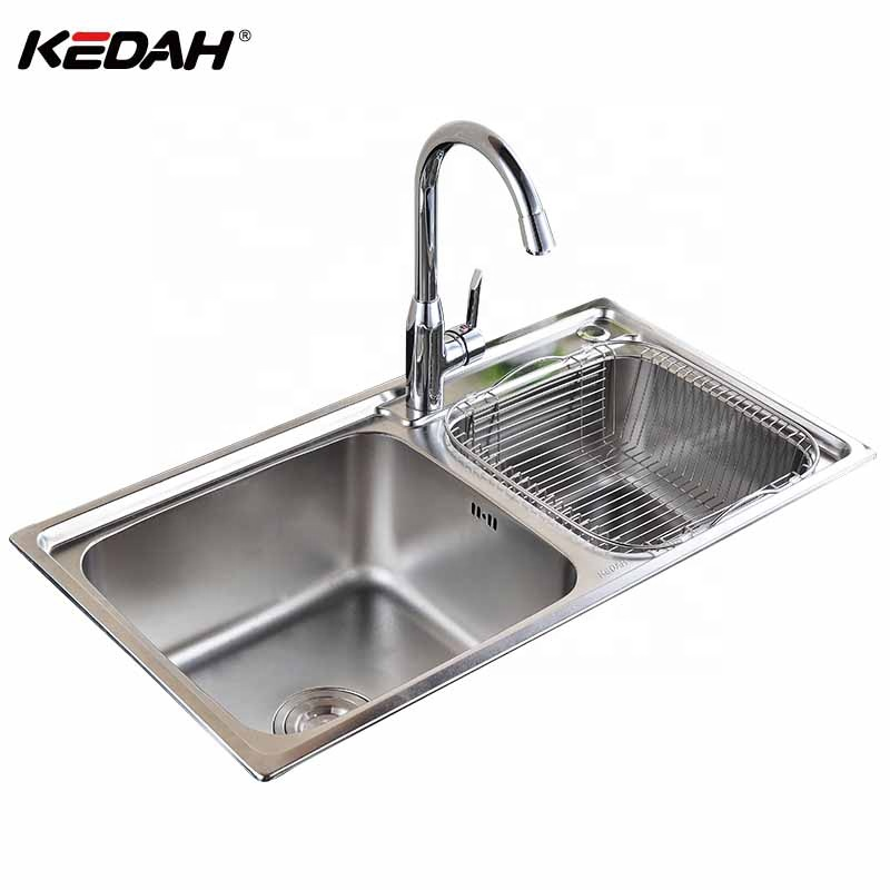 discount price cheap 304 stainless steel double bowl deep kitchen sink with strainer buy kitchen sink stainless steel kitchen sink 304 kitchen sink
