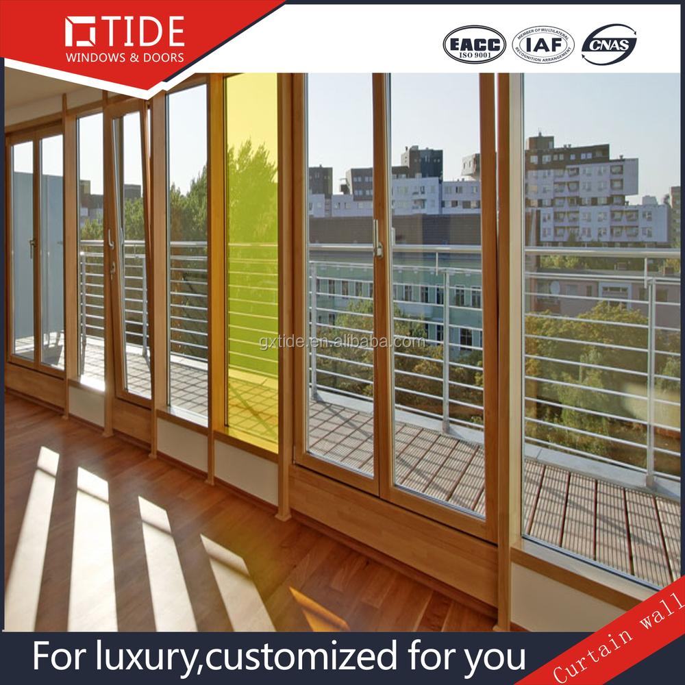 aluminum extrusion glass curtain wall double glazed curtain wall aluminum with wood frame profile buy double glazed aluminum sliding windows