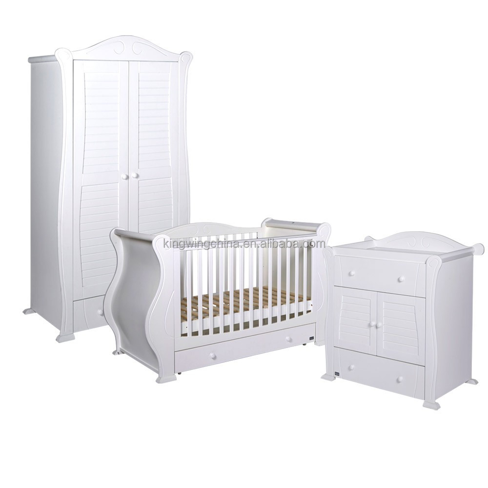 3 piece kids white bedroom furniture set baby cot chest of drawers wardrobe buy antique kids bedroom furniture set royal furniture bedroom