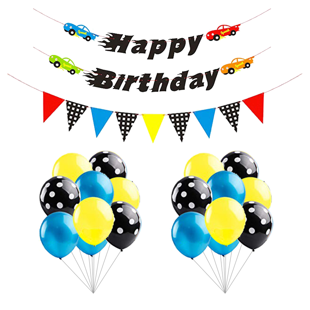 Race Car Party Decoration Kit Car Themed Happy Birthday Banner And Garland Blue Black Balloons Let Us Go Racing Party Supplies Buy Party Supplies Race Car Party Decoration Kit Birthday Party Decoration Product On Alibaba Com