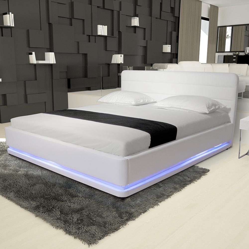 modern pu leather bedroom furniture frame beds rgb led light beds buy modern furniture beds rgb led bed leather bed with led light product on