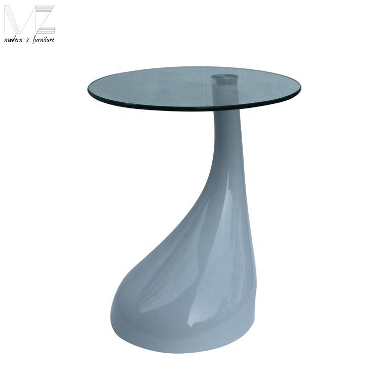 modern glass top fiberglass teardrop shaped bistro coffee side table buy modern coffee table lift top coffee table fiberglass coffee table sofa side
