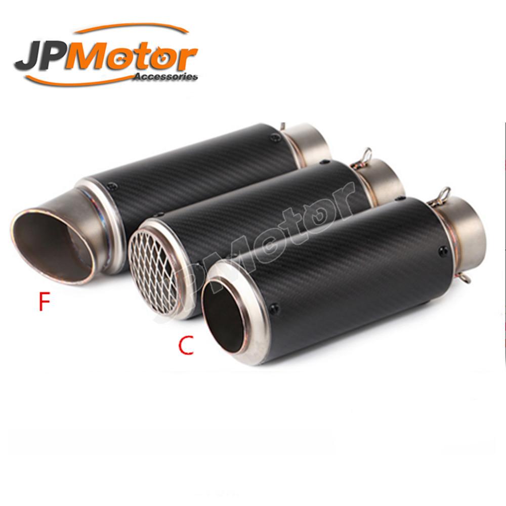 jpmotor 51mm universal carbon fiber titanium slip on motorcycle exhaust muffler system buy slip on exhaust carbon fiber muffler motorcycle titanium