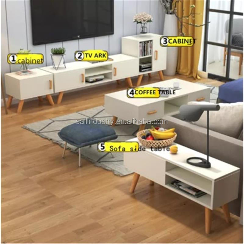 simple design tv stand and coffee table and book closet cabinet living room furniture sets buy wooden tv stand and cabinet morden style large