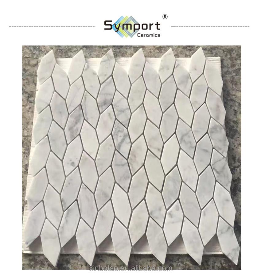 leaf shape white marble mosaic tiles backsplash price buy marble price marble price marble mosaic price product on alibaba com