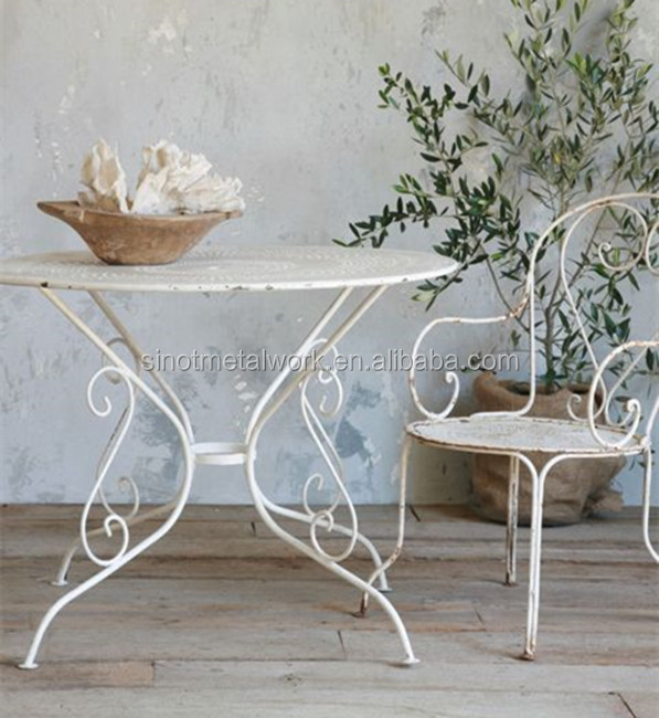 home and garden furniture white wrought iron table and chair for sale metal table and chair buy wrought iron table and chair set antique wrought