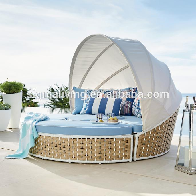 gold supplier factory direct garden treasures patio furniture wicker sunbed with canopy buy wicker sunbed with canopy outdoor daybed outdoor