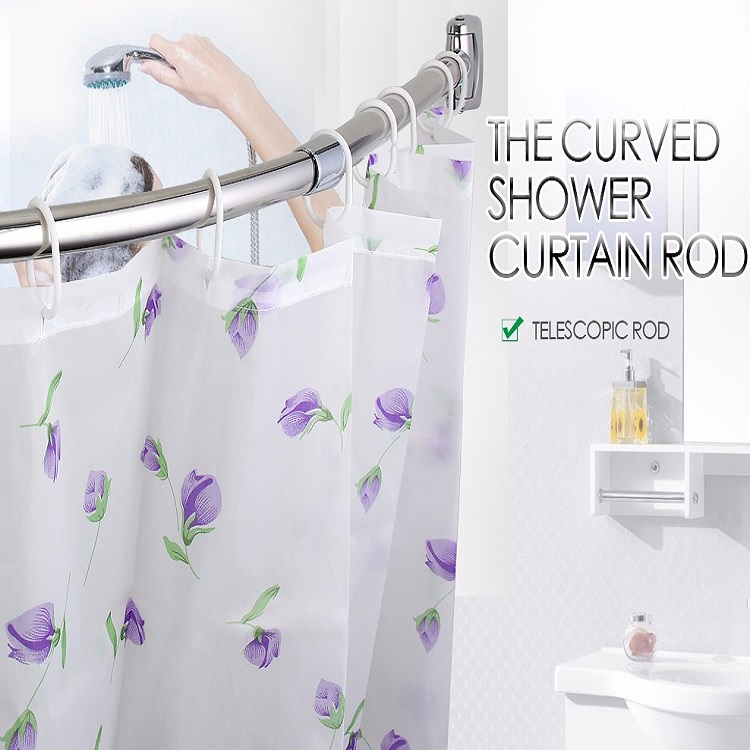 curved adjustable shower curtain rod buy shower curtain rod bath curtain rod curved shower rod product on alibaba com