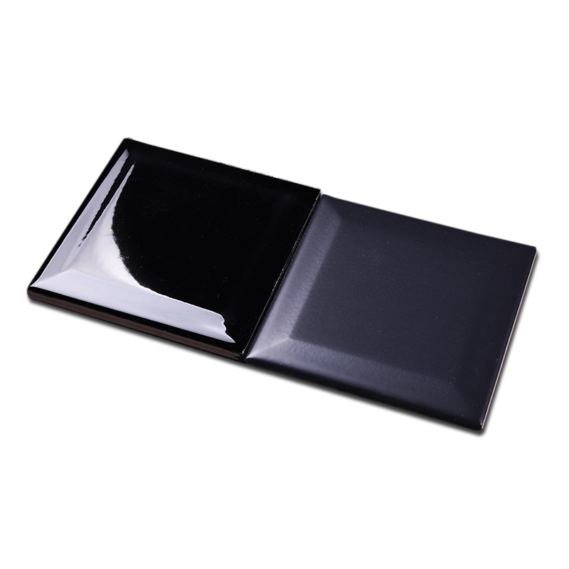 4x4 inch 10x10cm classic black ceramic subway tiles for interior wall buy 4x4 inch 10x10cm classic black crystal glass mosaic tile homer fan shaped mosaic tile ceramic tiles material and blacks color