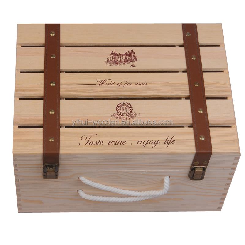 boite caisse en bois pour vin 6 bouteilles pas cher de haute qualite buy caisse boite caisse en bois de vin de six bouteilles bon marche boites en bois articulees de bouteille de vin boite a vin en bois