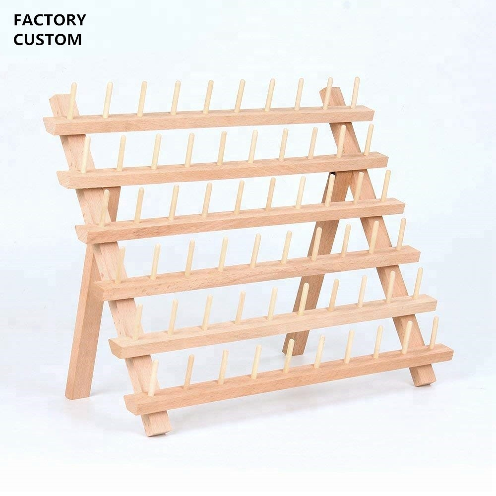 60 spool sewing thread rack wooden embroidery thread organizer buy sewing thread rack thread rack sewing supplies product on alibaba com
