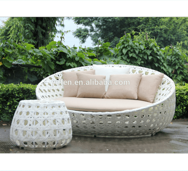 rattan wikcer garden patio furniture round sofa bed buy patio furniture rattan round sofa bed rattan wicker bed product on alibaba com