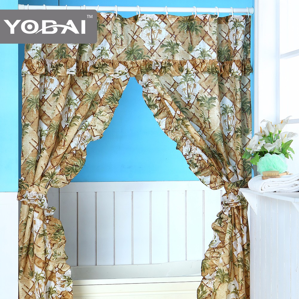custom double swag shower curtain with valance buy custom curtain italian curtains curtain in china product on alibaba com