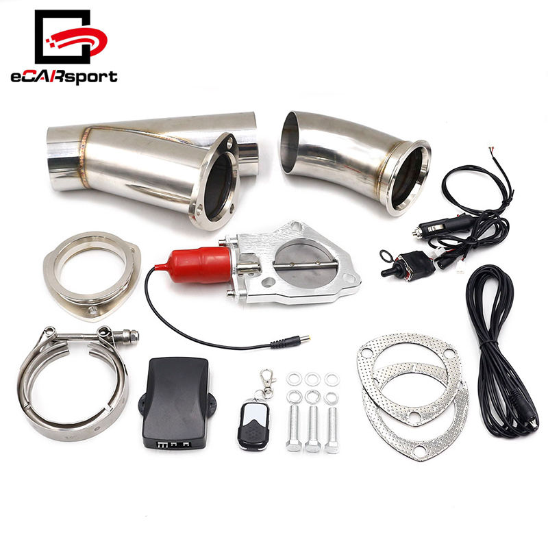 exhaust control valve 2 25 2 5 3 electric exhaust cutout remote and manual toggle switch control kit buy exhaust cutout exhaust control