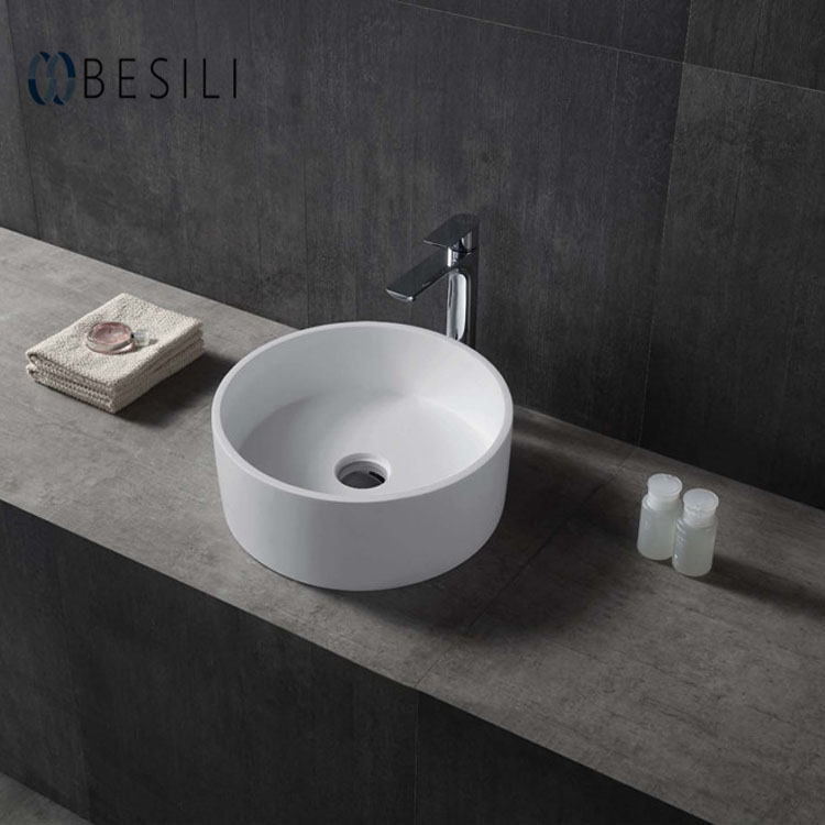 solid surface mini round countertop wash sink portable counter top washbasin a69 buy top counter sink solid surface counter basin counter top washbasin product on alibaba com