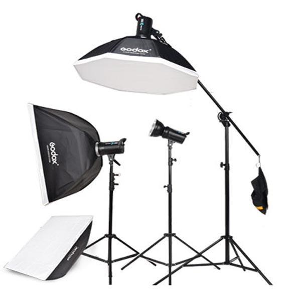 new professional godox background stand kits 300w strobe flash light screen kit with trigger buy studio flash lighting kit godox studio light