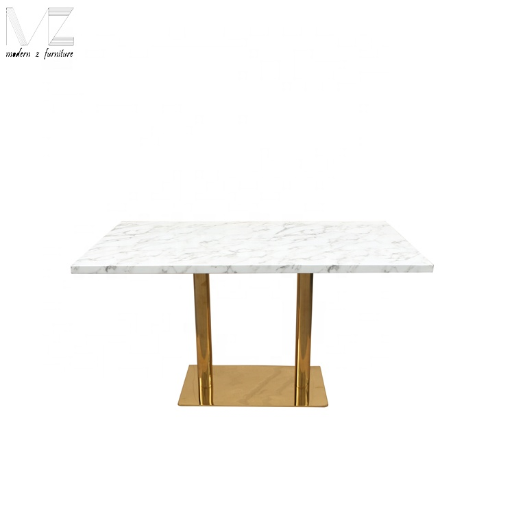 new design stainless steel faux square marble top dining table for 4 people buy marble dining table square marble top dining table new design