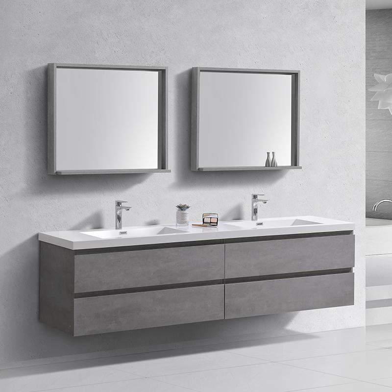 lavabo mural suspendu nouveau design de luxe 60 pouces double evier bagage de bain buy miroir armoire salle de bain vanite murale main lavage salle
