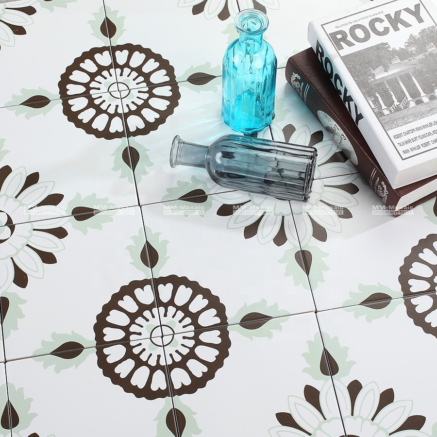 cheap 8 x8 spring pattern green porcelain non slip interior wall kitchen backsplash moroccan tiles floor buy moroccan tiles floor moroccan tiles