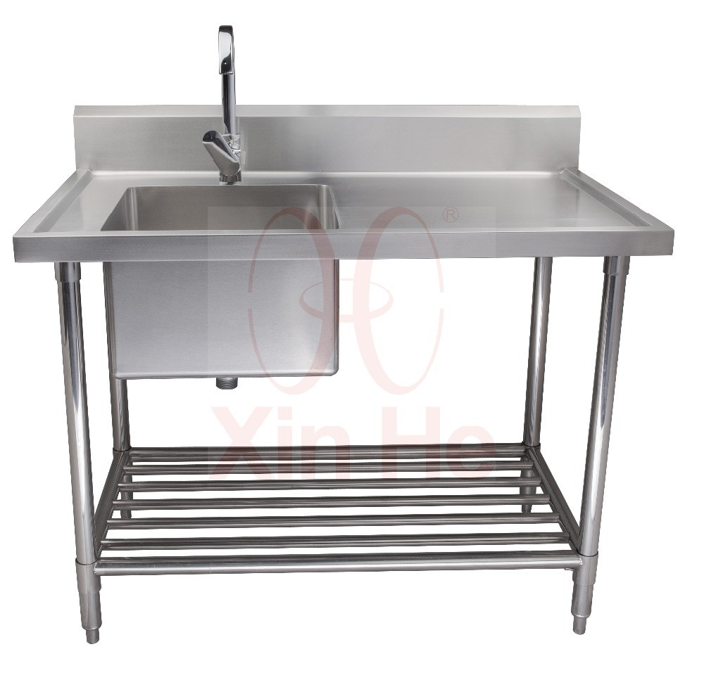 freestanding 304 stainless steel commercial sink with drainboard buy commercial sink stainless steel kitchen sink freestanding kitchen sink product