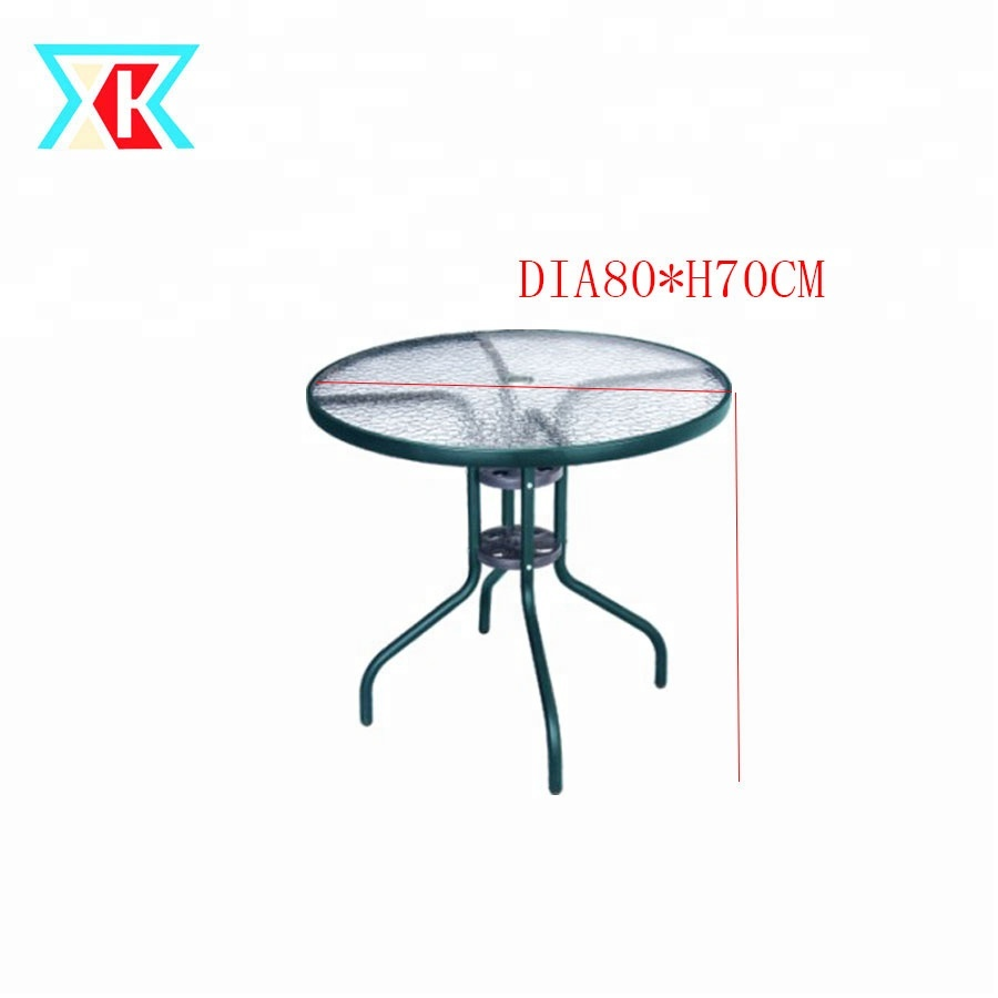 dia80cm leisure outdoor coffee patio bistro round glass table with umbrella hole buy outdoor table with umbrella hole coffee table round glass
