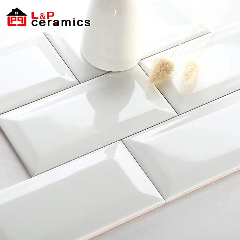 usa stylish beveled glossy white 3x6 subway tile ceramic for kitchen backsplash bathroom wall buy subway tile kitchen beveled 3x6 subway tile glossy