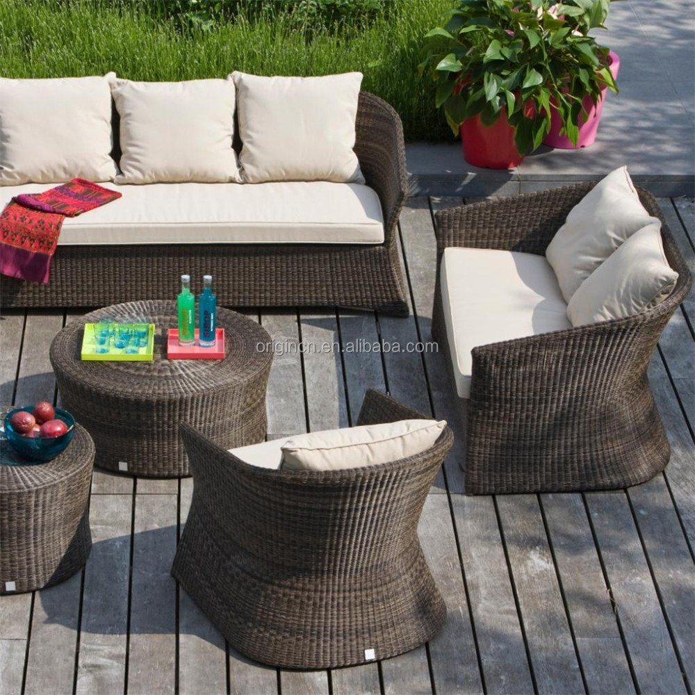 half moon shaped tropical style garden line rattan sofa and round table patio surplus outdoor furniture buy surplus outdoor furniture garden line
