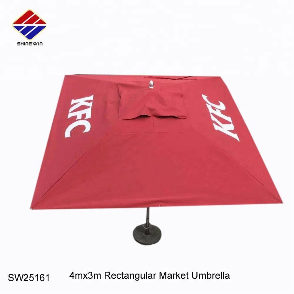 extra large outdoor rectangular patio market umbrella with kfc logo for cafe restaurant hotel sun shade beach buy outdoor umbrella market