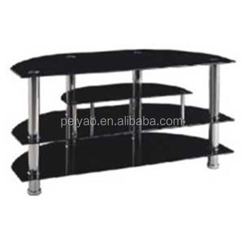 support tv en verre trempe et en acier inoxydable table tv moderne de haute qualite livraison gratuite buy meuble tv moderne en verre trempe table