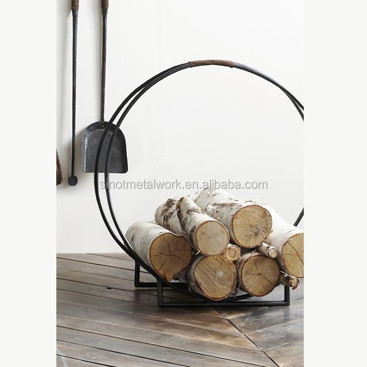 decorative round custom firewood storage rack with good quality wrought iron log holder metal fire log basket buy indoor firewood storage