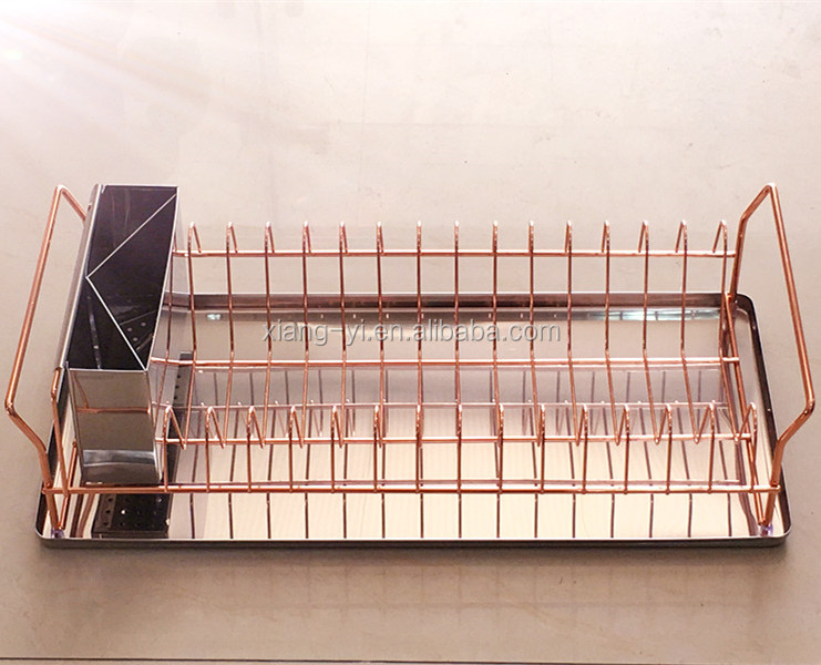 rose gold copper dish rack buy kitchen dish rack product on alibaba com
