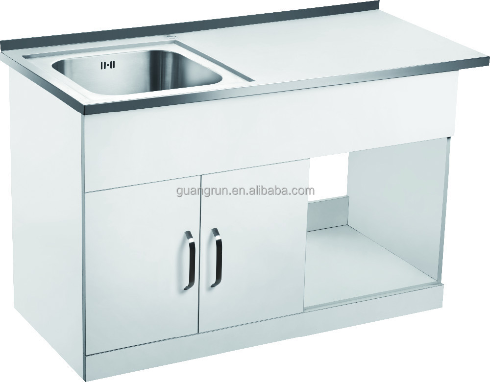 free standing commercial stainless steel laundry tub cabinet with drainboard gr 300a buy stainless steel laundry sink cabinet stainless steel
