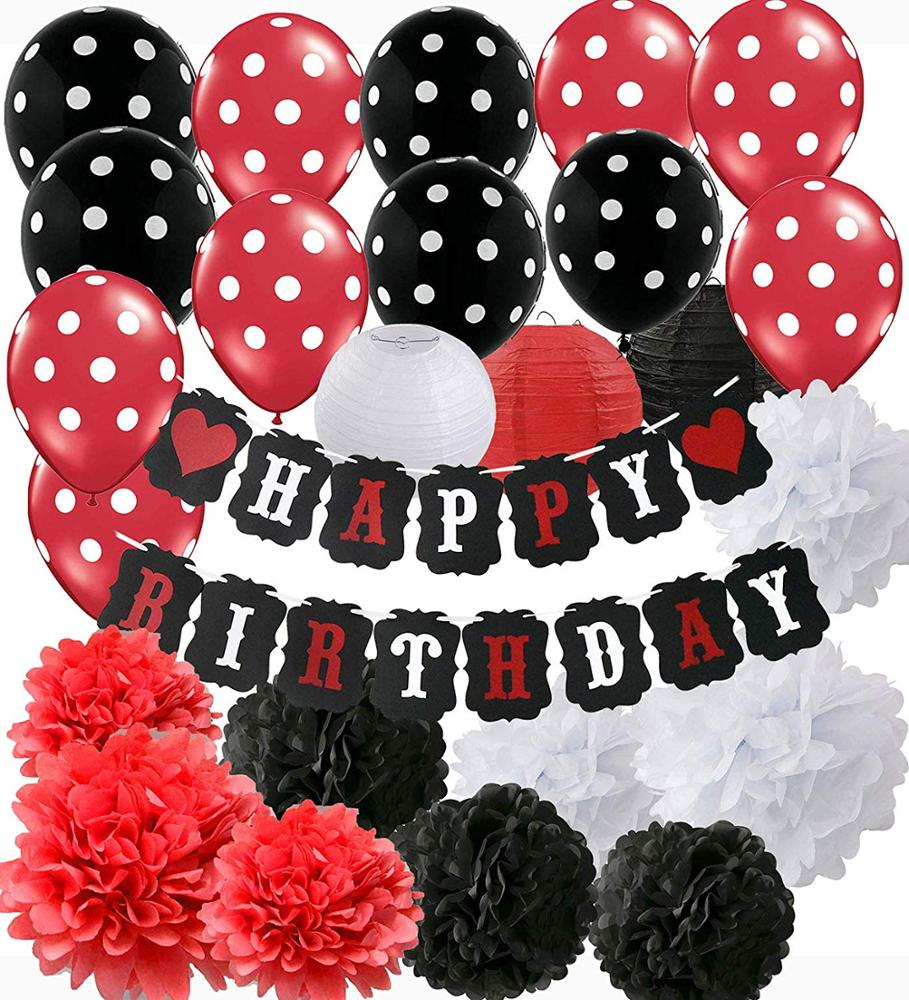 White Red Black Mickey Minnie Mouse Birthday Party Decorations Party Supplies Happy Birthday Decorations Banners Buy Mickey Mouse Birthday Party Decorations White Red Black Party Supplies Happy Birthday Decorations Banners Product On Alibaba Com