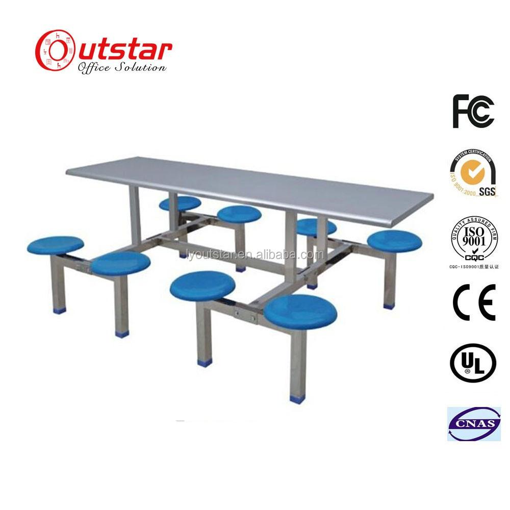 pas cher utilise salle de restaurant industriel chaise de table avec plateau en acier inoxydable ecole cantine tabletable et chaises buy table et