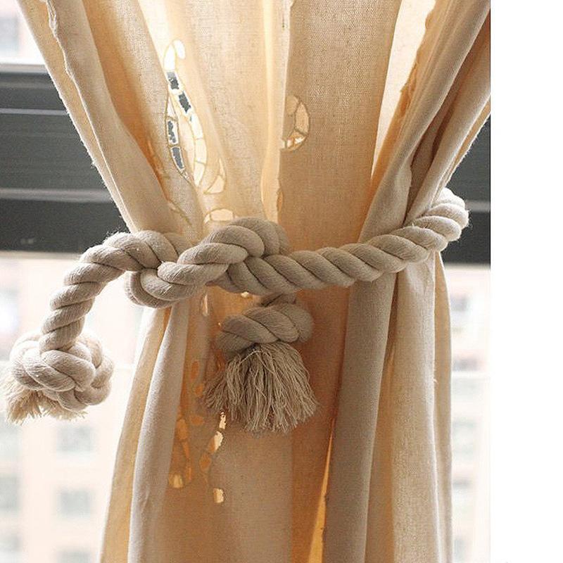 diy cotton rope tiebacks window curtain holdbacks buckle holdback fabric drapery tassels curtain tiebacks tassel rope tie back buy curtain rope