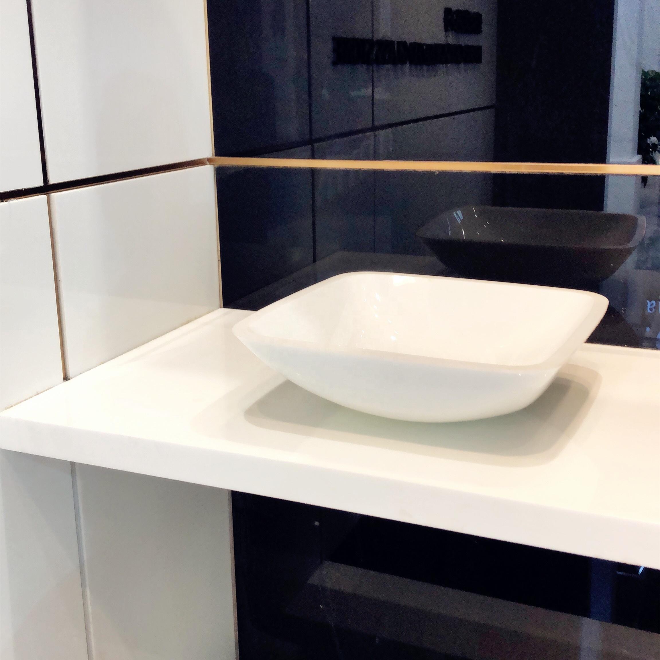 golden phoenix nano glass pure white artificial stone sinks buy nano crystal glass bathroom vanities and sinks nano white wash basins product on