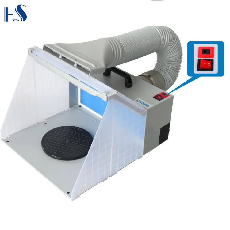 hseng hs e420dclk portable hobby airbrush spray booth with led lighting for painting all art buy spray booth portable hobby airbrush product on