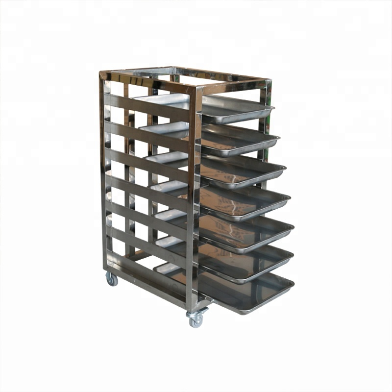 mobile bread stand shelf baking pan pastry tray rack stainless steel kitchen dining rack for supermarket buy bread display rack free standing