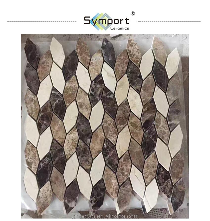 foshan ceramic city colors leaf shaped mosaic marble tile backsplash buy leaf shaped mosaic marble tile backsplash leaf shaped mosaic marble tile