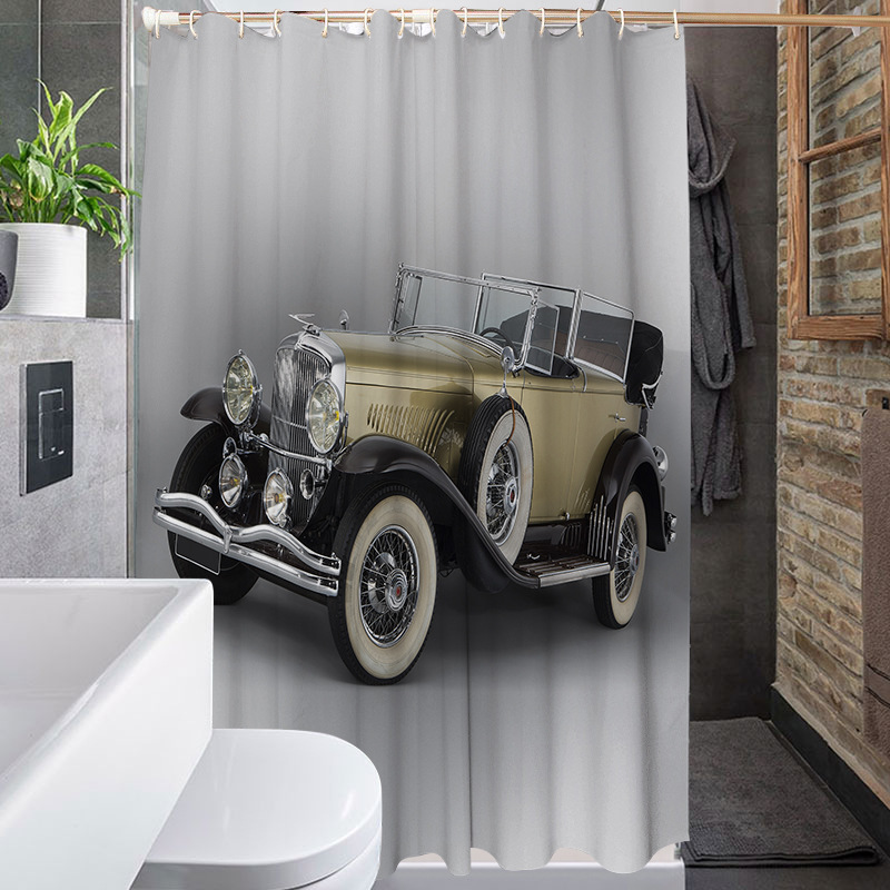 yutong antique car shower curtains custom vintage old truck car decor polyester fabric shower bath curtain buy bath shower windows curtain shower