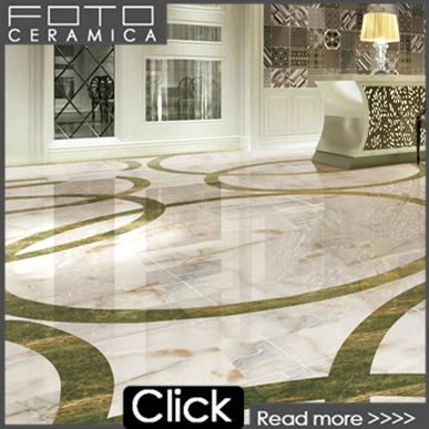 green marble flooring design