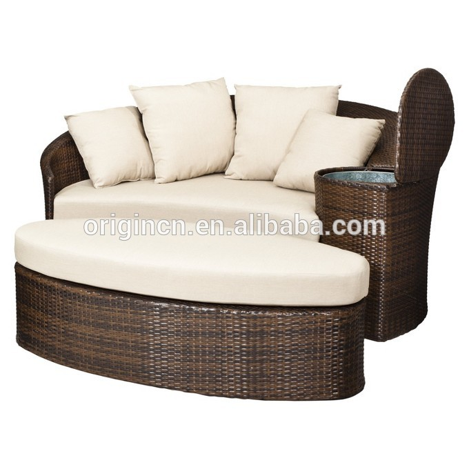 patio loveseat and ottoman sectional round sun bed with cooler rattan outdoor daybed buy outdoor daybed sun bed day bed product on alibaba com