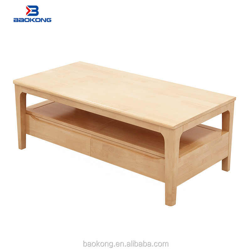 rubber wood furniture modern coffee table living room end table with drawers buy wooden coffee tables solid wood slab coffee tables homemade coffee